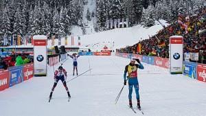 Martin Fourcade vainqueur de la course des rois du côté d'Anthloz-Anterselva
