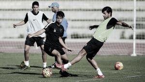 El Málaga completó el tercer entrenamiento de la semana