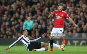 "Juan Mata praises character in ""special"" win against Newcastle United"