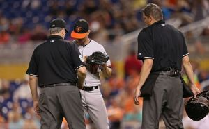 Baltimore Orioles' Brian Matusz Suspended Eight Games