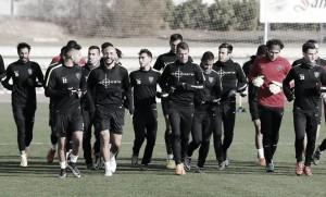 Segundo entrenamiento semanal del Málaga de cara a Sevilla