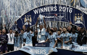 Manchester City win Capital One Cup final in dramatic fashion - on penalties