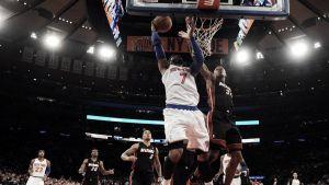Melo y los Knicks sorprenden a Miami
