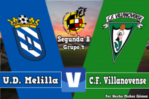 Resultado Melilla - Villanovense en Segunda División B 2016 (4-1)