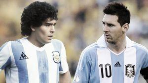 """Messi """"se hartó"""" de Maradona"""