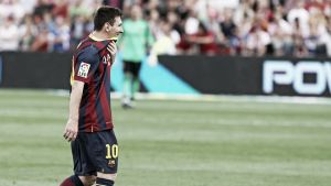 Messi se lesionó en Almería y mañana se le harán más pruebas