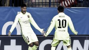 Coppa del Re, un super Neymar elimina l'Atletico Madrid