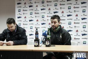 """Michel Alonso: """"El Langreo nos echó hacia atrás, tuvieron mucho empuje"""""""