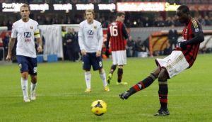 Il Milan va sempre piú giù