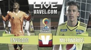 Resultado final: Envigado - Millonarios por Liga Águila 2016 (2-0)