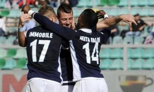 Serie A, Milinkovic stende il Palermo: Lazio al terzo posto