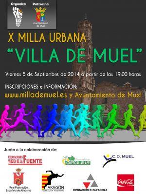 """La Milla Urbana """"Villa de Muel"""" tiene todavia abierto el plazo de inscripción"""