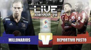 Resultado Millonarios vs Deportivo Pasto en vivo (5-1)