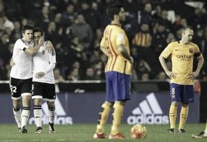 Liga, Santi Mina stoppa il Barcellona: al Mestalla è 1-1 con il Valencia di Neville