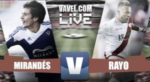 El Mirandés vence al Rayo (2-1) y se mete arriba