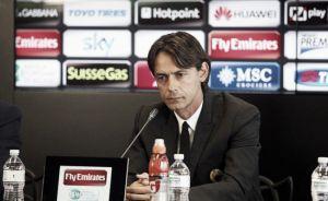 """Milan, Inzaghi: """"I discorsi sull'allenatore del prossimo anno sono chiacchiere da bar"""""""