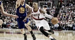 Portland se hace grande de nuevo ante unos Warriors sin Curry