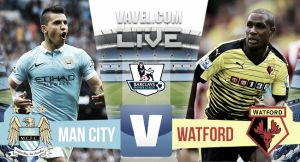 Manchester City vs Watford live result and EPL scores 2015 (2-0)