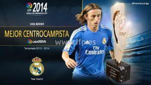 Luka Modric, mejor centrocampista de la Liga 2013/14