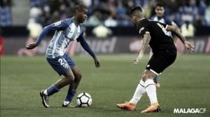 """Diego Rolán: """"No quiero pensar en que pasará a final de temporada, solo pienso en el Málaga"""""""