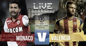 Resultado Mónaco - Valencia en la previa de Champions League 2015 (2-1)