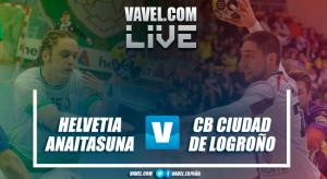 Resumen Helvetia Anaitasuna vs CB Ciudad de Logroño en Liga Loterías ASOBAL 2017 (27-29)