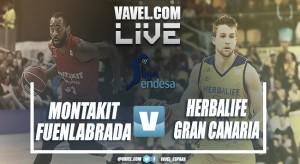 Resumen Montakit Fuenlabrada vs Herbalife Gran Canaria en vivo y en directo online en ACB 2018 (66-86)