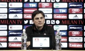 """Milan, Montella: """"Il Bologna ha talento. Bacca e Lapadula insieme? Forse"""""""