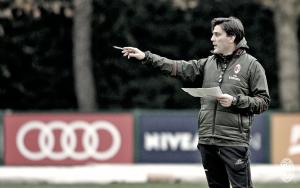"""Milan, Montella: """"Niang non sarà il primo rigorista, prima della Supercoppa c'è l'Atalanta"""""""