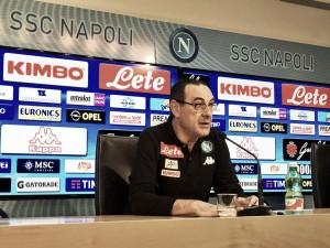"""Napoli, Sarri in conferenza: """"Vogliamo fare bene fino alla fine"""""""