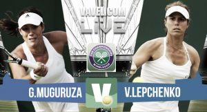 Garbiñe Muguruza vs Varvara Lepchenko en vivo y en directo online en Wimbledon 2015