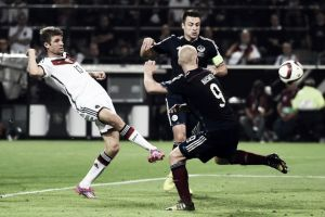 Germany 2-1 Scotland: World Champion edge brave Scots in Dortmund