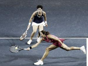 Suárez y Muguruza, eliminadas del dobles en Indian Wells