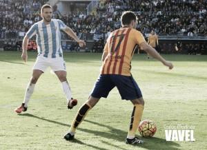 Munir anota el gol más rápido en La Rosaleda en la 15/16