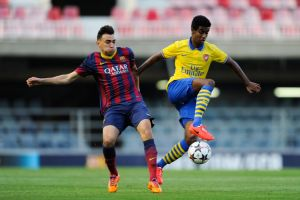 Munir El-Haddadi: The Spanish born Moroccan excelling up the Barca ranks has caught Wenger's eye