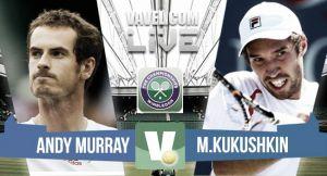 Andy Murray vsMikhail Kukushkin en vivo y en directo online en Wimbledon 2015