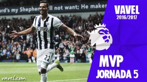 Nacer Chadli MVP de la 5ª jornada de Premier League