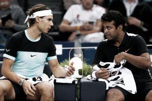 Rafa Nadal finaliza su andadura en Paris-Bercy en dobles junto a Leander Paes