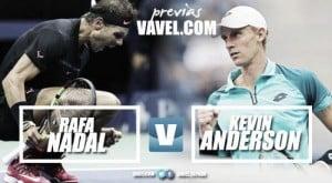 Rafael Nadal x Kevin Anderson: número um do mundo busca tri diante de sul-africano