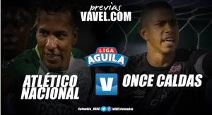 Previa Atlético Nacional vs Once Caldas: El 'verde' festeja sus 70 años contra un rival 'copero'
