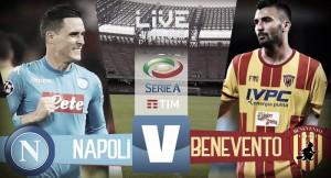 Napoli - Benevento in diretta, LIVE Serie A 2017/18 (6-0): Allan, Insigne, Mertens x3 e Callejon!
