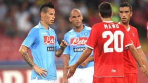 El Sevilla gana al Nápoles en un partido intenso