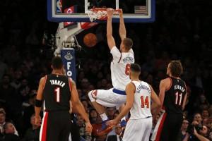 NBA - Porzingis da impazzire:New York sconfigge Portland (107-103)