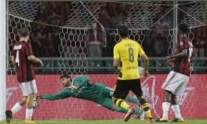 Il Milan perde 3-1 contro il Borussia Dortmund: le parole di Montella e Çalhanoglu a fine gara