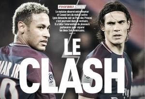 Discussão entre Neymar e Cavani seguiu no vestiário; companheiros separaram os dois, diz L'Équipe