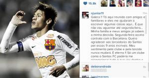 Oficial. Neymar anuncia que será jugador del FC Barcelona