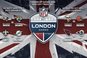 Desvelados los partidos de Londres en 2017