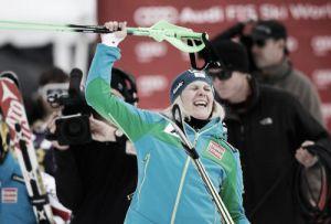Nicole Hosp risorge: suo lo slalom speciale ad Aspen. Indietro Shiffrin e Maze, male le azzurre