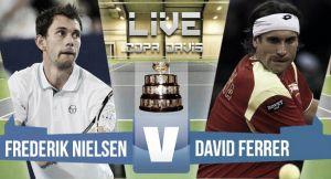 Resultado Frederik Nielsen vs David Ferrer en Copa Davis 2015 (0-3)