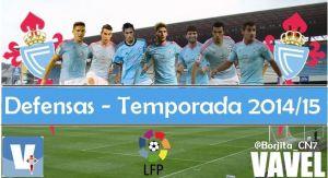 Puntuaciones del Real Club Celta 2014/2015: defensas